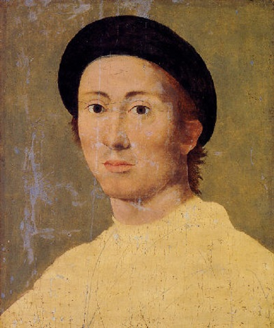 a portrait of a young man unfinished by giuliano bugiardini