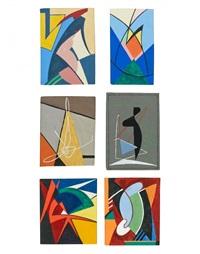 ensemble de 2 gouaches (2 works) by nicolaas warb