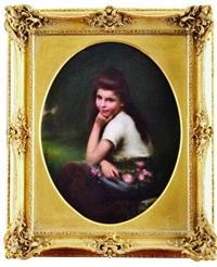 jeune fille aux roses by jules cyrille cavé