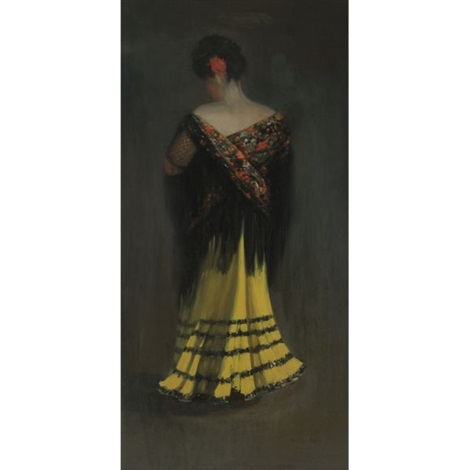 the spanish shawl portrait of jeanne frankenberg by george benjamin luks