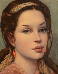 girl in teardrop earrings by ken hamilton