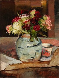 still life with flowers by ludvig jacobsen
