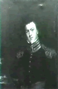 portrait of a young curly-haired officer by joseph greenleaf cole