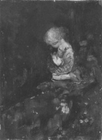 kneeling child by florence carlyle
