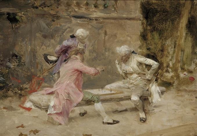le jeu déchecs by charles bargue