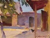 village yard by jános tornyai