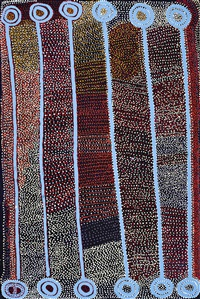 ngapa jukurrpa (water dreaming) puyurru by shorty robertson jangala