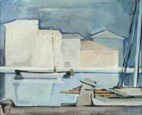 barche sul canale by tullio crali