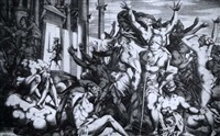 king françois i going into the temple of immortality by rené boyvin