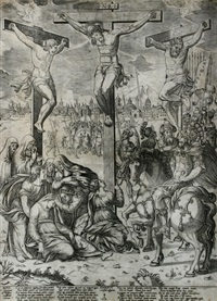 christi crucifixi responsio (after tintoretto?) by cornelis bos
