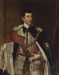 portrait of thomas thynne, the second marquis of bath, in garter robes by henry william pickersgill