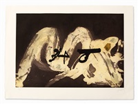 aquatint etching with embossing by antoni tàpies