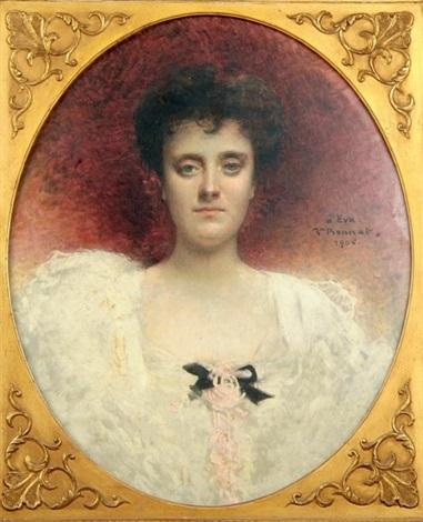 portrait de femme by léon joseph florentin bonnat