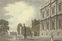 the banqueting house and the privy garden, whitehall, london by thomas malton the younger