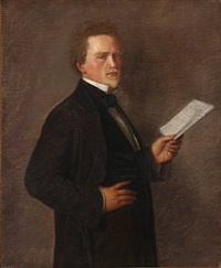 portrait of landowner lund by henrik benedikt olrik