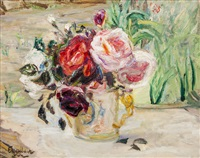 roses in coronation mug by florence engelbach