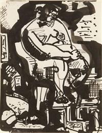seated nude by hans hofmann