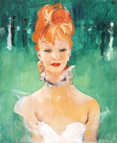 Portrait Nadine De Rothschild By Jean Gabriel Domergue On Artnet