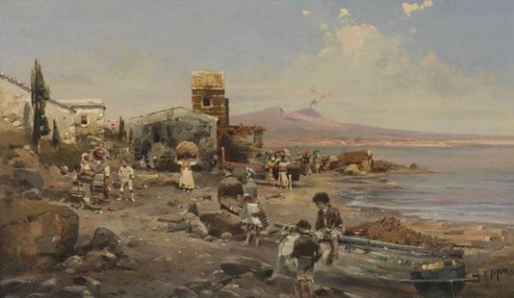 village de pêcheurs dans le golfe de naples by robert alott