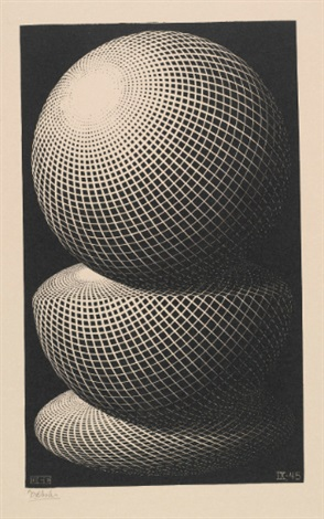 three spheres i by m c escher