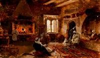 fumando la shisha en la tetería by enrique simonet lombardo