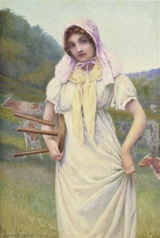 the milkmaid by henry ryland
