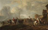 riding games on the beach by philips wouwerman