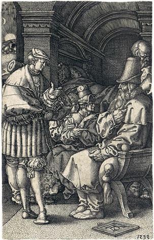 joseph erzählt jakob seine träume pl1 from die geschichte des joseph by heinrich aldegrever