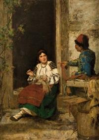 le vendeur itinérant by kazimierz alchimowicz
