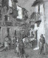 calle de un pueblo by josé maría labrador arjona
