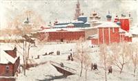 russischer winter by boris nikoleavich yakovlev