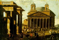 a capriccio view of the pantheon by vicente giner