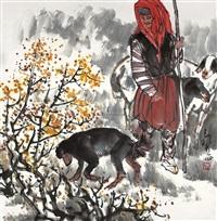 牧羊图 by ma zhensheng