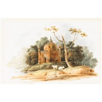 moslem temple in bengal (near patina) by charles (sir) d'oyly