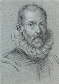 portrait d'homme en buste by ottavio maria leoni