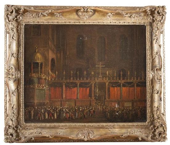 procession dans la basilique saint marc by david roberts