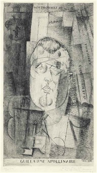 portrait de guillaume apollinaire by louis marcoussis