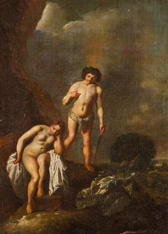 spotkanie bachusa i ariandy na wyspie dia naksos by jan van noordt