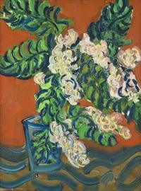 květy ve skleněné váze by richard fremund