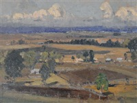 hawkesbury landscape by john william (sir) ashton