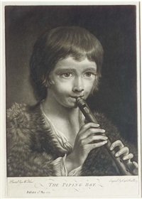 the piping boy (after nathaniel hone) by william (captain) baillie
