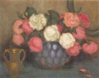 róże w wazonie by alfons karpinski