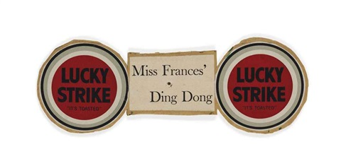 untitled miss frances ding dong lucky by ray johnson