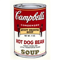 campbell's soupⅱ hot dog bean by andy warhol