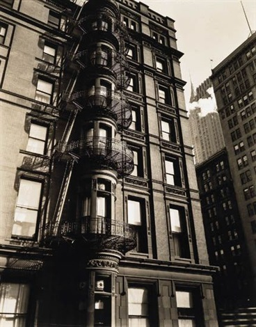 murray hill hotel balconies park avenue and 41st street by berenice abbott