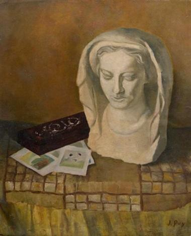 nature morte au buste de femme by jean puy