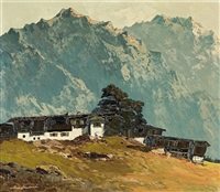 house in tirol mountains by georg arnold
