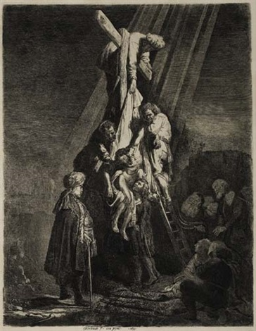 The Descent from the Cross 2nd plate by Rembrandt van Rijn ...