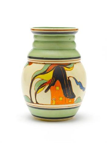 Orange House A Vase Shape 358 By Clarice Cliff On Artnet
