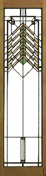 a leaded glass window for the oscar steffens house, circa 1909 by frank lloyd wright